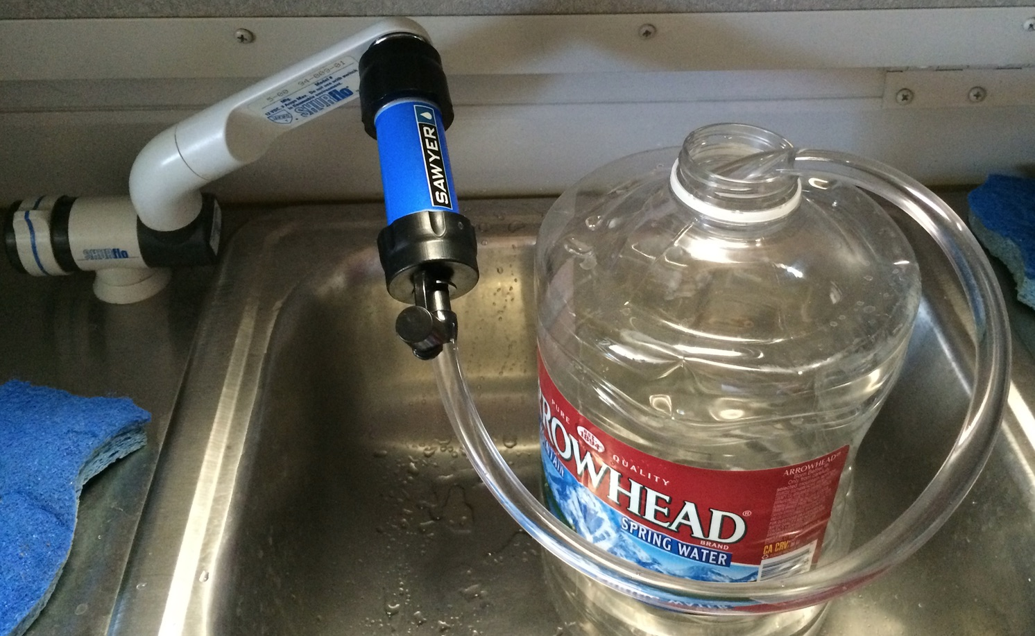 Eurovan : Build an adapter for the Sawyer Mini to filter from the ...